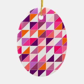 Mosaico rosado del triángulo que envuelve el diseñ ornamentos de navidad