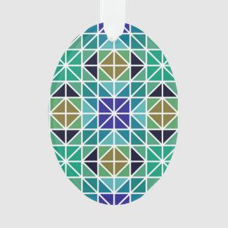 Mosaico tejado colorido azul del triángulo