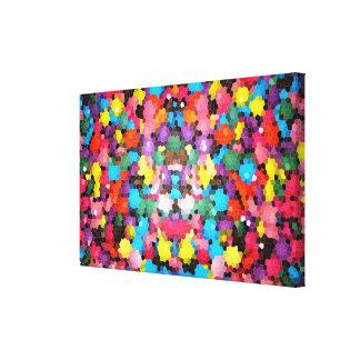 Mosaico vivo del caramelo del arco iris del vitral impresión en lienzo