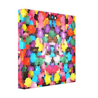Mosaico vivo del caramelo del arco iris del vitral lona envuelta para galerias