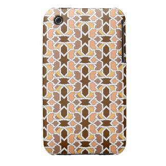 Mosaico y arte de Marruecos. Arabesco arte morisco Case-Mate iPhone 3 Cárcasas