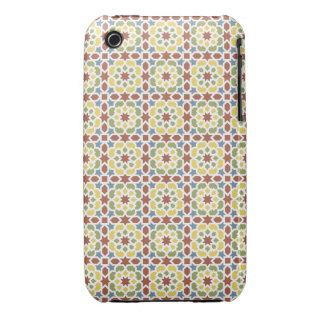 Mosaico y arte de Marruecos. Arabesco en azulejos iPhone 3 Case-Mate Cárcasas