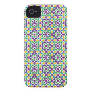 Mosaico y arte de Marruecos. Cerámicas de arabesco Case-Mate iPhone 4 Cobertura