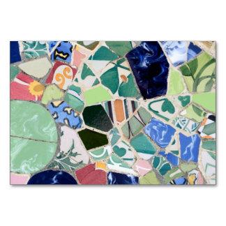Mosaicos de Guell del parque