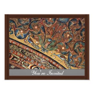 Mosaicos del coro en San Vitale en escena de la Invitación 10,8 X 13,9 Cm