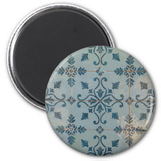 Mosaicos del vintage de Portugal Imán Redondo 5 Cm