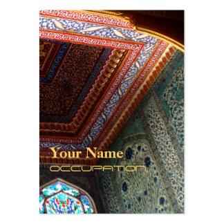 Mosaiic - negocio, tarjeta del horario tarjetas de visita grandes