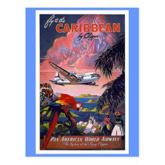 Mosca al vintage del Caribe Postal