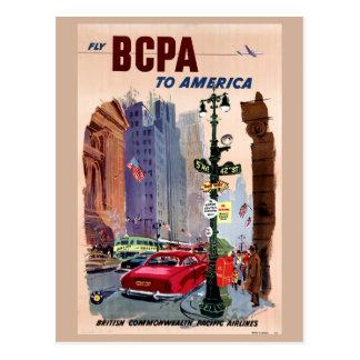 Mosca BCPA al poster del vintage de América Postal