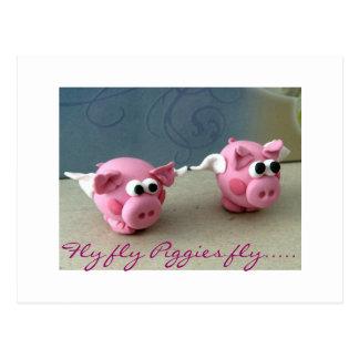 Mosca de Piggies de la mosca de la mosca ..... Postal
