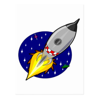 Mosca de Rocket a la libertad y al éxito Postal
