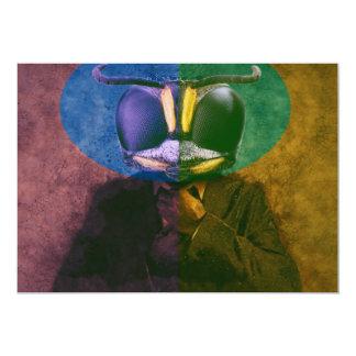 Mosca del hombre invitación 12,7 x 17,8 cm