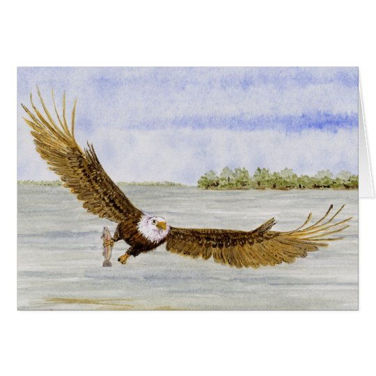 'Mosca Eagle Pesca-Calvo Tarjeta De Felicitación