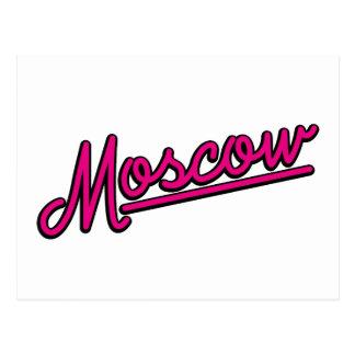 Moscú en magenta postal