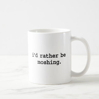 moshing. bastante taza de café