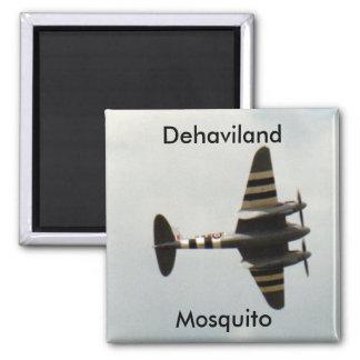Mosquito de Dehaviland Imán Cuadrado