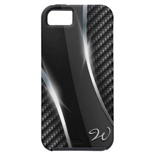 Mota de la fibra de carbono 3 iPhone 5 Case-Mate protectores