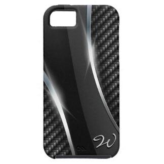 Mota de la fibra de carbono 3 funda para iPhone SE/5/5s