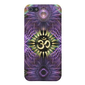 Mota púrpura de NewAge Aum de los fractales de la  iPhone 5 Cárcasa