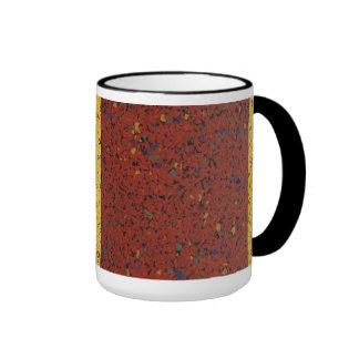 Motas del granito taza de dos colores