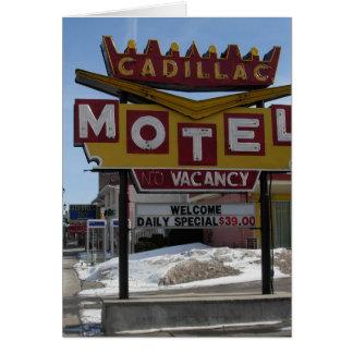 Motel de Cadillac Tarjeta De Felicitación
