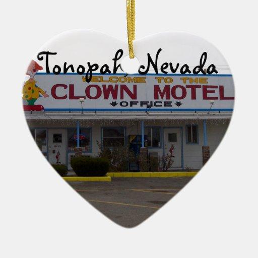 Motel del payaso ornamento para arbol de navidad