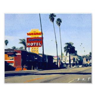 Motel en foto del bulevar de la puesta del sol