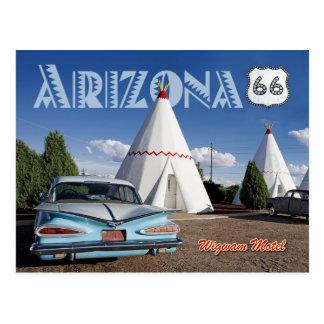Motel histórico de la tienda india, ruta 66, Arizo Tarjeta Postal