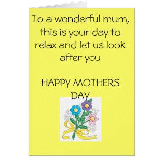 mothers-day-crafts-1, a una momia maravillosa, est tarjeta de felicitación