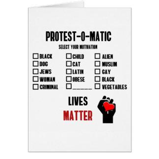Motivación a la protesta tarjeta de felicitación