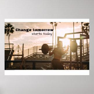 Motivación de la mañana póster