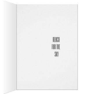 Motivación, inspiración, tarjeta del estímulo