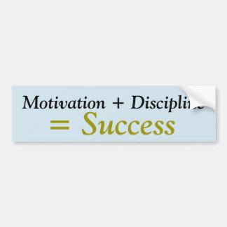 Motivación + Pegatina de Disicipline = del éxito