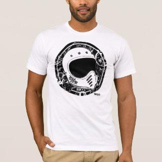 Moto8negro Helmet in black&white.. Camiseta