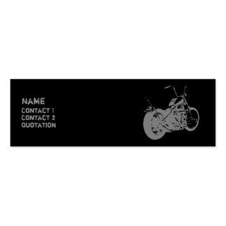 Moto 2 psicos tarjetas de visita mini