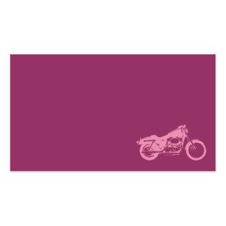 moto de la bici del rosa de la motocicleta motorcy tarjeta de visita