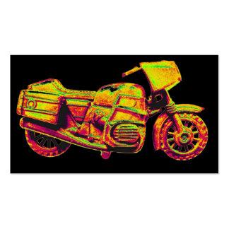 Moto, oro, amarillo de oro en la parte posterior tarjetas de visita