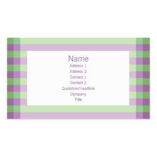 Moto - púrpura y verde plantilla de tarjeta personal