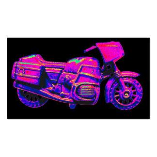 Moto, rosa en la parte posterior del negro tarjetas de visita