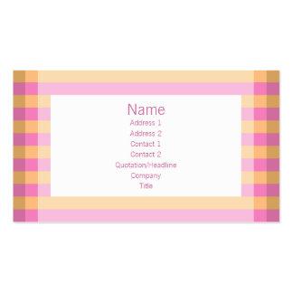 Moto - rosa y naranja tarjetas de negocios