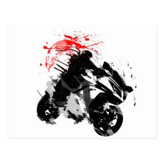 Motocicleta de Japón Ninja Postal