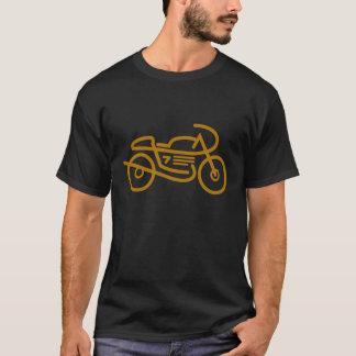 Motocicleta del corredor del café camiseta