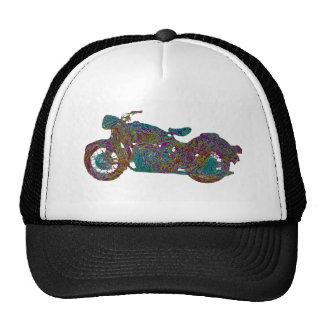 Motocicleta del impresionista del mensajero gorros bordados