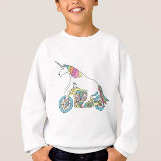 Motocicleta del montar a caballo del unicornio sudadera