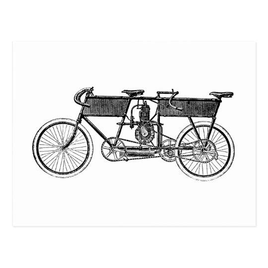 Motocicleta del Victorian del vintage Postal