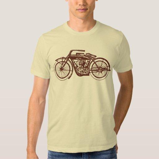 Motocicleta del vintage camisetas