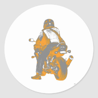 Motocicleta Pegatina Redonda