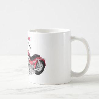 motocicleta roja taza de café