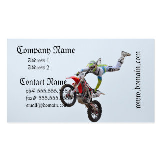 Motocrós del estilo libre tarjeta personal