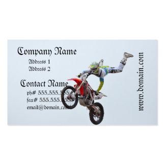 Motocrós del estilo libre tarjetas de visita